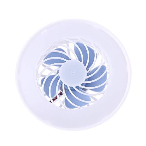 Abcidubxc Ventilador USB, ventilador USB, universal, 2 en 1, CA, 85 V-265 V, E27, 12 W, lámpara LED E27, ventilador de techo, bombilla LED para el hogar, oficina, mercado nocturno