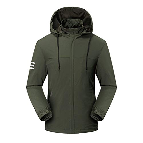 SPE969 Mountain Jacket Mens, Autumn Casual Waterproof Quick-Drying Breathable Sport Outdoor Coat Green