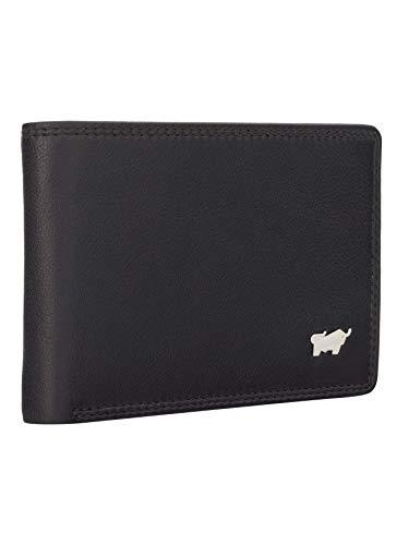 BRAUN BÜFFEL Geldbörse Golf 2.0 - aus echtem Leder - 4 Fächer Schwarz