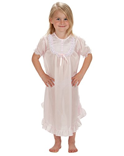 Laura Dare Baby Girls Pink Short Sleeve PJ Nightgown, 12m