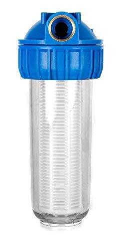 Hochwertige Vorfilter in verschiedenen Größen für Hauswasserwerk Pumpenfilter Hausfilter Pumpenvorfilter mit einer Maschenweite von 0,06 mm. Leistung 3000 l/h und 4000l/h + Montagezubhör. (4000 l/h)