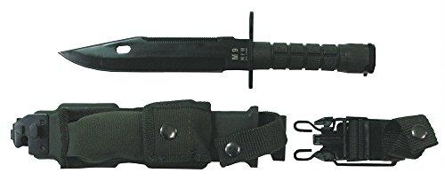 Baïonnette m 9, manche en plastique vert en plastique et fourreau en nylon-longueur: 32 cm-longueur de la lame: 19 cm