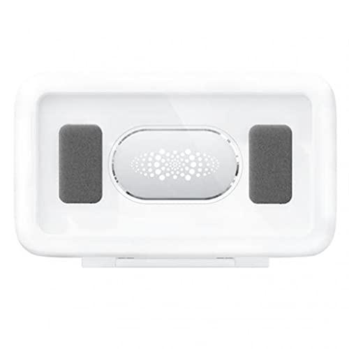 Diaod Caja de teléfono móvil Impermeable para baño, Soporte Autoadhesivo, Pantalla táctil, Pared del hogar, Carcasa de teléfono para baño, Caja de Almacenamiento con Sellado de Ducha (Color : White)