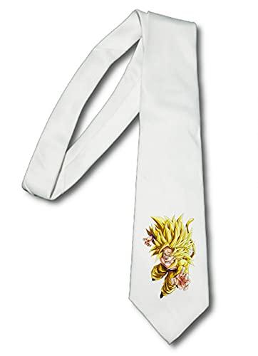 MERCHANDMANIA Corbata Elegante Goku SSJ 5 Dragon Ball AF Suave Poliester