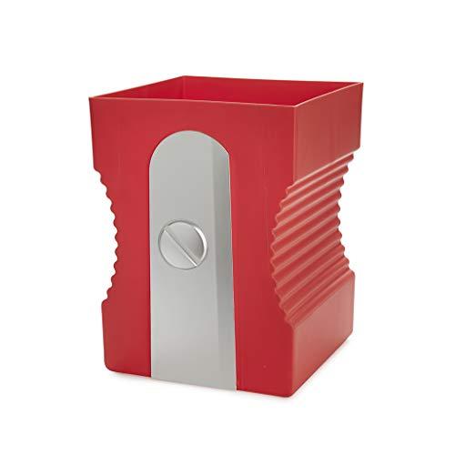 balvi Papierkorb Sharpener Farbe Rot Papierkorb in Form eines Bleistiftspitzers ABS-Kunststoff/Polypropylen 29 cm