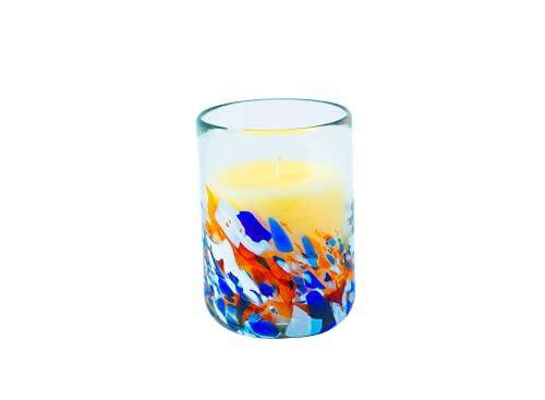 ANTONI BARCELONA Vela Decorativa Velas en Vaso de Vidrio Cera de Soja Natural Aromaterapia Canela Perfumada Cristal Reciclado Artesanal 35 Horas Aromática para Hogar y Regalos