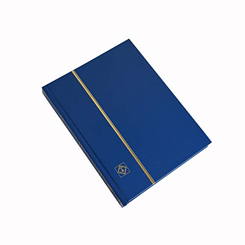 Stamp Album Stockbook by Lighthouse 32-Black Page Stamp Stock book LS2/16 Blue (Size: 6 1/2' x 9')