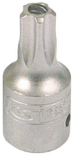 KS Tools 911.1474 - Punta destornilladora para tornillos de estrella de cinco puntas con orificio, TS25, 1/4', 5 mm