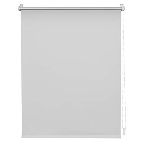 Wohn-Guide AAA.100.150.01 Verdunkelungsrollo Thermo-Rollo Klemmfix ohne Bohren mit Seitenverspannung Sichtschutz Hitzeschutzrollo Weiß, 100 cm x 150 cm (B x L)