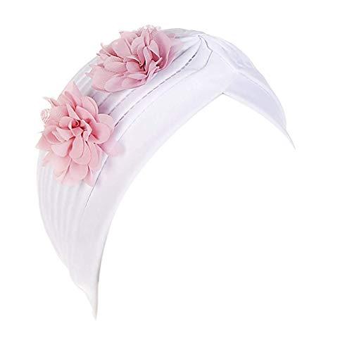 Racoste Eletina Vêtements Floral Pom Chapeau Femmes Perle Inde Musulman Chapeau Cancer Chimmo Bonnet Floral Turban Wrap Cap Extensible Casquettes Pour Cancer Casquettes