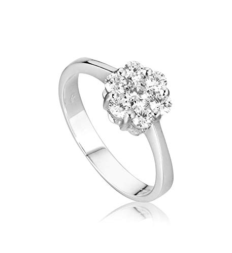 Anillo Magic para mujer oro blanco 18 kt (750/000) con diamantes 0,11 ct F – VVS