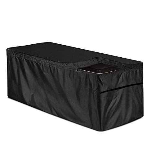 SmallPocket Deck Box Cover, Patio Deck Box Cover Garden Storage Box Cover with Zip, Waterproof Foldable UV Protection Oxford Fabric Outdoor Furniture Cover