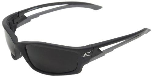 Edge Eyewear TSK216 Kazbek Polarized Safety Glasses, Black with Smoke Lens