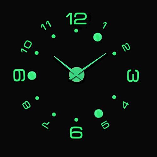 QETUOA Reloj De Pared 3D Luminoso Moderno Super Creativo Acrílico Decoración De Bricolaje Sala De Estar Pegatina De Pared Reloj, Reloj De Decoración De Sala (11)