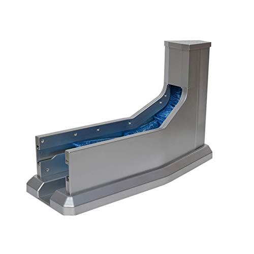 ZSQDSZ Dispensador automático de Cubiertas para Zapatos (Incluye Cubiertas para Zapatos) - Shoe Inn Stay (Capacidad : 50, Color : Gray)