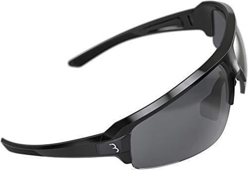 BBB Cycling Fahrradbrille Impulse | Herren und Damen Sportbrille Sonnenbrille Radsport | mit drei Wechselgläsern | Polycarbonat Grilamid | MTB Rennrad Urban | Glänzend Schwarz | BSG-62