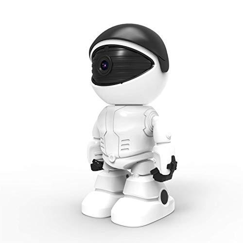 LLKK 1080P Robot cámara IP Cámara de seguridad WiFi inalámbrica 2MP CCTV Cámara de vigilancia del hogar IR visión nocturna P2P monitor oculto del bebé (color 64GB)