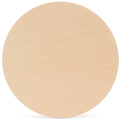 Wood Plywood Circles 13 inch, 1/4 Inch Thick, Round Wood Cutouts, Pack of 10 Baltic Birch Unfinished Wood Plywood Circles for Crafts, by Woodpeckers
