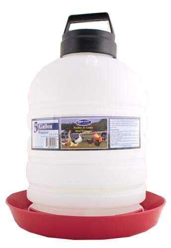 Farm Tuff P5G04 64021 Top Fill Poultry Fountains, 5-Gallon, 16 Ounce