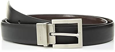 Calvin Klein Women's Reversible Belt, Black/Brown, 1X