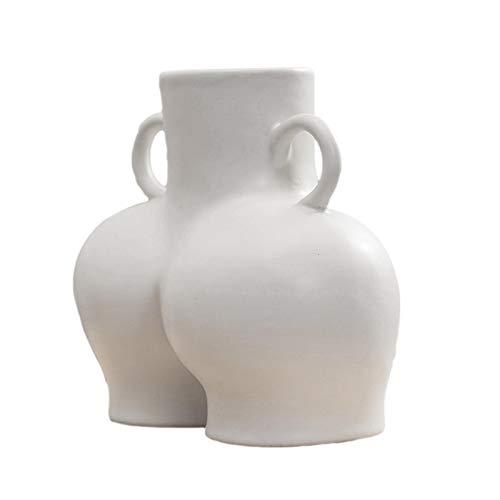 Jannyshop Körper Blumenvase Keramik Minimalist Weiblicher Hintern Blumenhalter Wohnkultur Body Art Vase Kreative Vase Craft Decoration