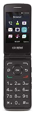 Tracfone Carrier-Locked Alcatel MyFlip 4G Prepaid Flip Phone- Black - 4GB - Sim Card Included – CDMA (Renewed)