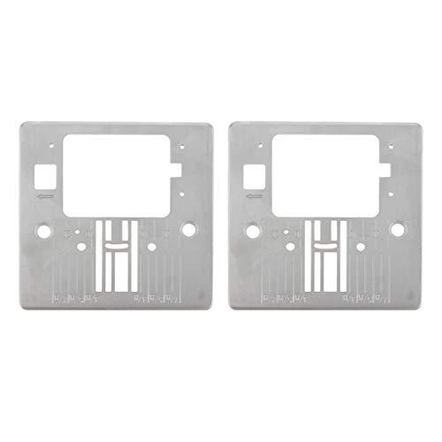 MagiDeal 2X Placa de Garganta para Máquina de Coser Doméstica Q60D para Singer 4423 4432 5511