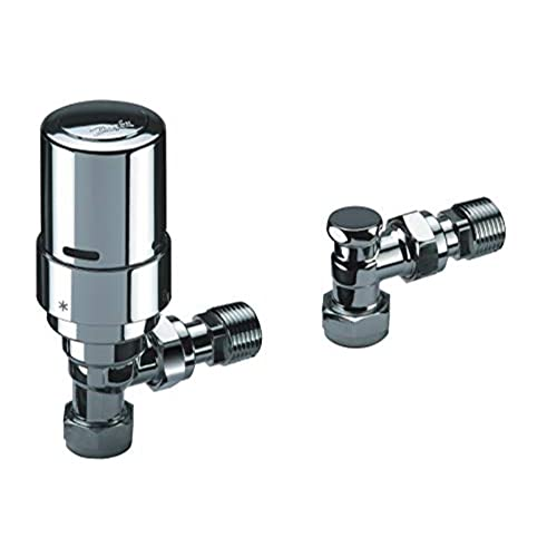 Danfoss RAS-D2 Angle TRV and Lockshield 8/10/15MM-013G6016 for Two-Pipe...