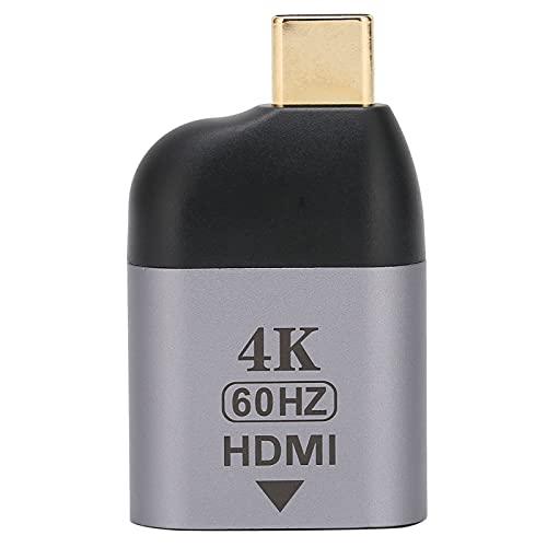 ASHATA Adaptador USB C a HDMI, Adaptador Hembra 4K Mini Type-C a HDMI para Oficina en casa, Compatible con Laptop con Type-C