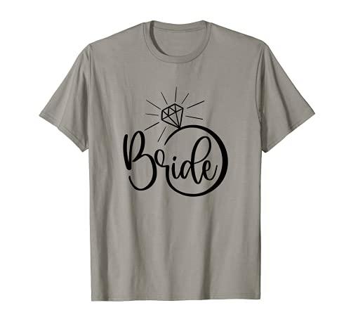 Anillo de compromiso con diamante para novia, despedida de soltera Camiseta