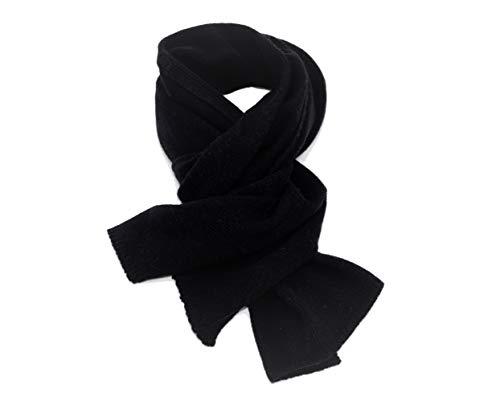 DALLE PIANE CASHMERE - Schal aus 100% regeneriertem Kaschmir - für Frau/Mann, Farbe: Schwarz, Einheitsgröße