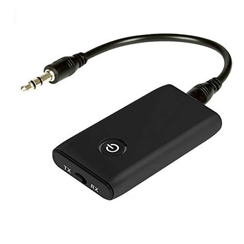 Haihui Adaptador de audio inalámbrico de 3,5 mm, transmisor y receptor Bluetooth 5.0, adaptador auxiliar de 3,5 mm, compatible con Plug & Play