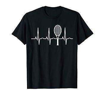 Tennis Heartbeat Shirt Best Tennis Gift Tee for Players Fans T-Shirt