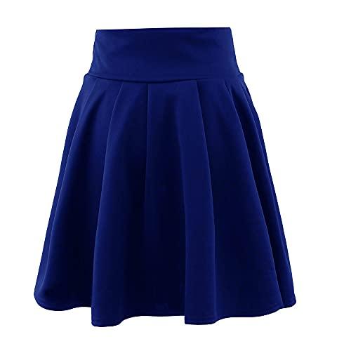 N\P Verano de las mujeres Faldas de cintura alta a cuadros falda de las mujeres plisada falda corta