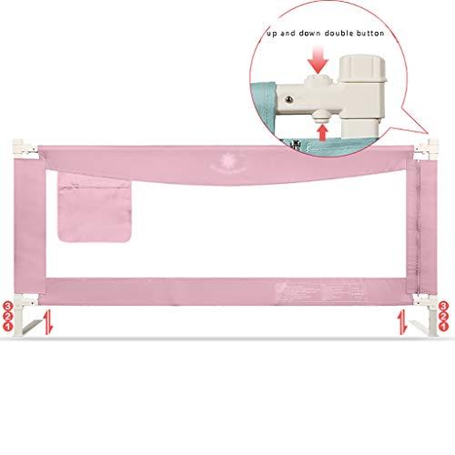 Bed Fence Baby Bruchsicherer Zaun Vertikaler Aufzug Säuglingskind Bedside Baffle (Farbe : Pink, größe : 200cm)