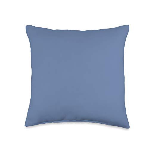 Vine Mercantile Simple Chic Solid Color Dark Periwinkle Blue Throw Pillow, 16x16, Multicolor