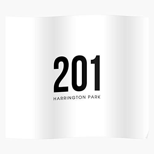 shagmu Phone Inspirational Black and White Tablet Harrington Park Protector Cover New Jersey, das Beste und neueste Plakat für Wandkunst Wohnkultur Zimmer
