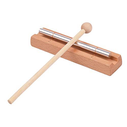 Entweg Instrumento de campana de madera, campana de madera de 1 tono con instrumento de percusión de mazo para oración meditación de yoga campana musical juguetes para niños clase campana de memoria