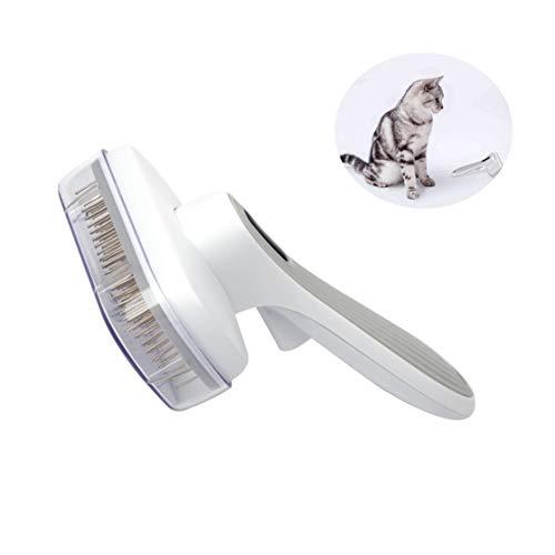 Fitlife Katzenbürste Unterfell Hundebürste Softbürste für Langhaar Universal-Pflegebürste Kunststoff Bürste Haustiere, Hunde, Katzen, Kaninchen Mit Schutzhülle