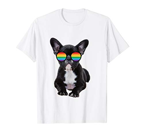 Gay Pride Flag French Bulldog T-Shirt LGBT Pride Month Shirt T-Shirt