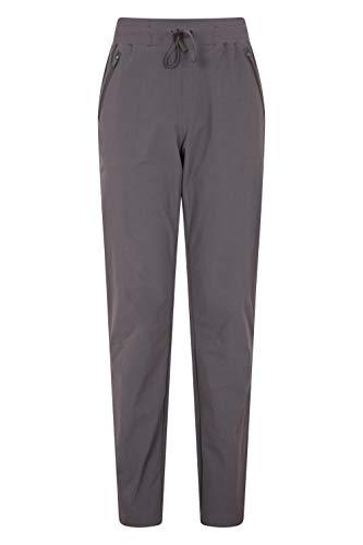 Mountain Warehouse Explorer Womens Trousers - UV Protection Ladies Pants, Lightweight Bottoms, Shrink & Fade Resistant, Multiple Pockets-Best for Outdoors, Picnic, Parks Gris foncé 34