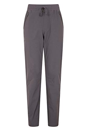 Mountain Warehouse Explorer Womens Trousers - UV Protection Ladies Pants, Lightweight Bottoms, Shrink & Fade Resistant, Multiple Pockets-Best for Outdoors, Picnic, Parks Gris Oscuro 54