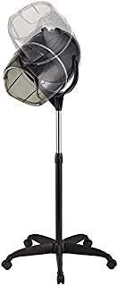 L.HPT Secador de Pelo Profesional de pie con Temporizador Caster Caster Altura Ajustable para peluquería Salón de Belleza 1000W (Negro)