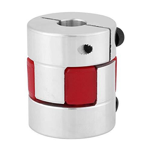 Walfront 8mm bis 12mm Wellen Pflaume Elastischer Kupplungskoppler Aluminiumlegierungs Pflaumen Verbindungswelle für Schrittmotor(8mm-8mm)