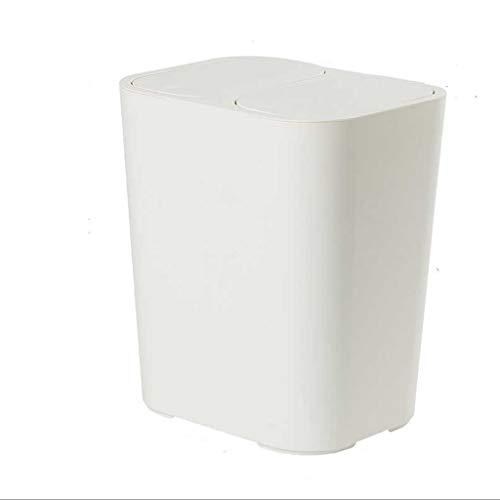 SHYPT Cubo de basura contenedores de basura al aire libre plástico Residuos Basket - Bote de basura con tapa - Basura de la cocina puede - Bote de basura al aire libre for acampar Patio de la papelera