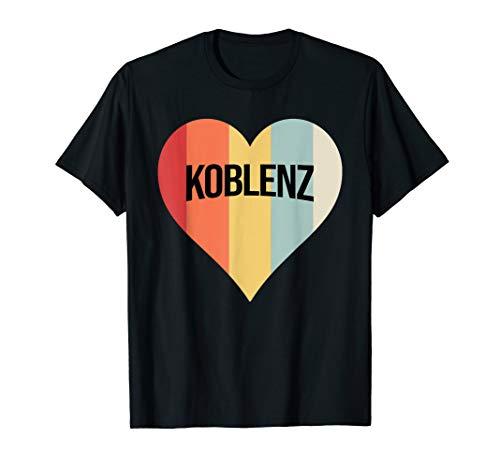 Koblenz Retro Farben T-Shirt | Meine Herz Liebe Heimatstadt