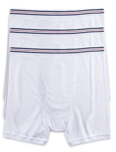Harbor Bay by DXL Big and Tall Knit Boxer Briefs, White XL, Pack of 3
