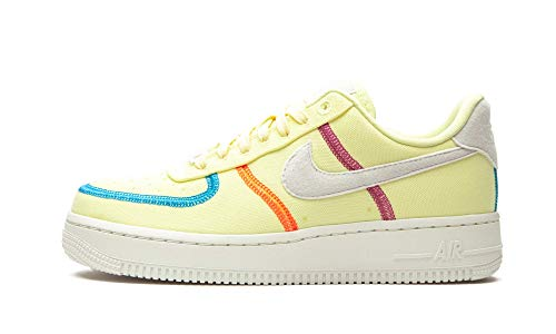 Nike Wmns Air Force 1 07 LX, Zapatillas de bsquetbol Mujer, Life Lime Summit White Laser Blue Hyper Orange Cactus Flower, 39 EU