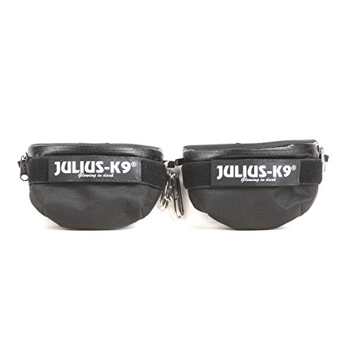 Julius-K9 1621IDC-K IDC Universal Side Bags for Dogs, Harness Size Baby 2 to Mini-Mini, Black