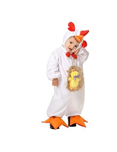 DISBACANAL Disfraz gallina para bebé - -, 12 Meses